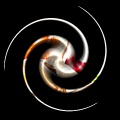 3D Reflective Spiral Photo Effect