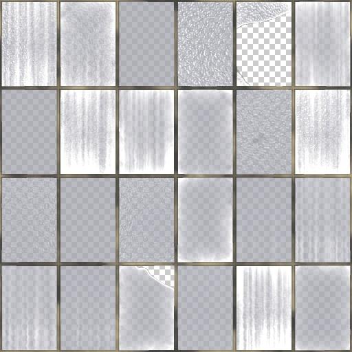 Broken warehouse windows texture for Exterior glass wall texture