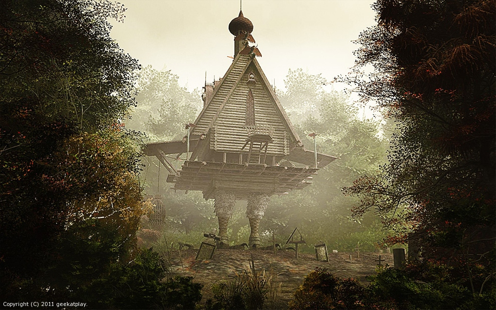 Baba Yaga hut by geekatplay