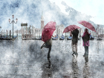 Watercolor rain in Venice by kanes55